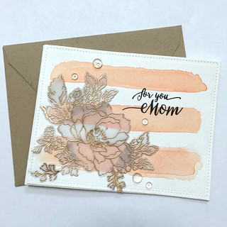Watercolor stripes Mother's Day card | by Kimberly Toney