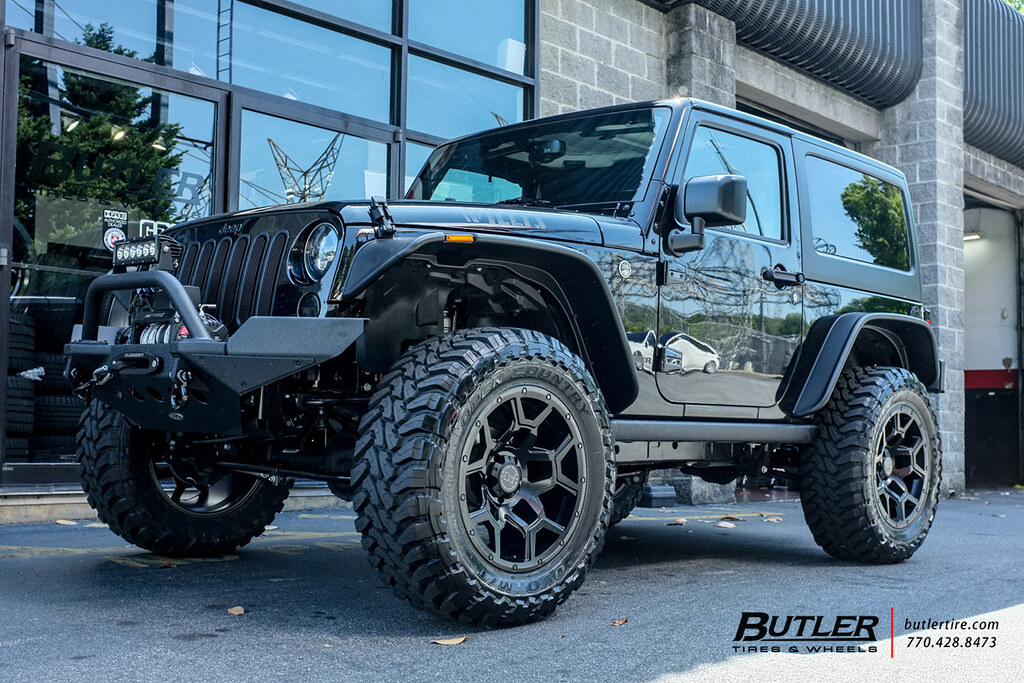 Jeep Wrangler Lifted >> Lifted Jeep Wrangler with 20in Black Rhino Overland Wheels ...