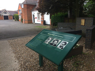 The Cottages and Polish Memorial at Bletchley Park