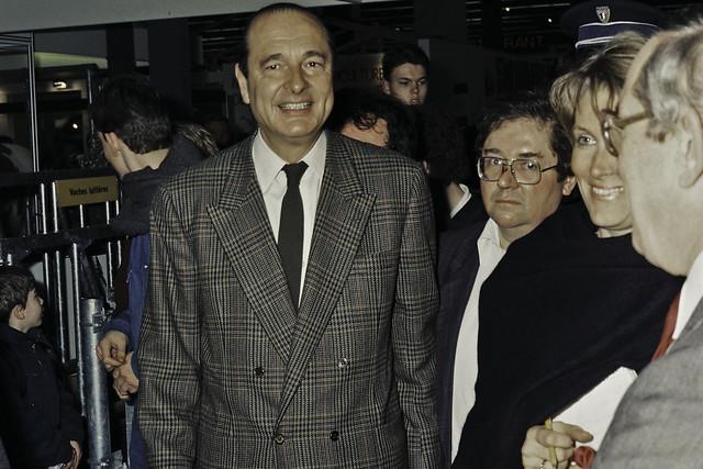 Mr JACQUES CHIRAC au SIA 1990-17-cliche Jean Weber