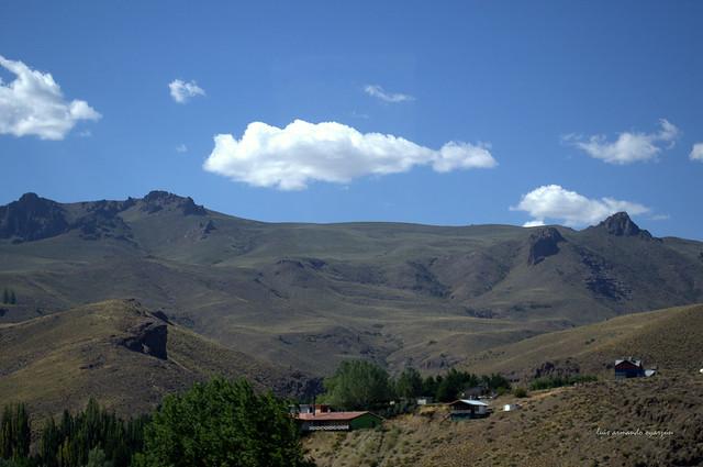 Paisaje de la Provincia del Neuquén. Patagonia Argentina.