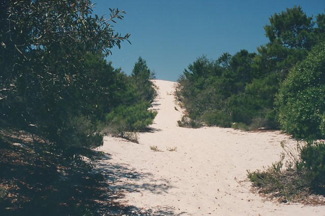 hiking up the dune - 35mm