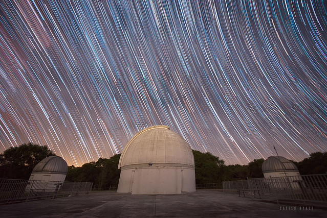Star Trails over George Observatory