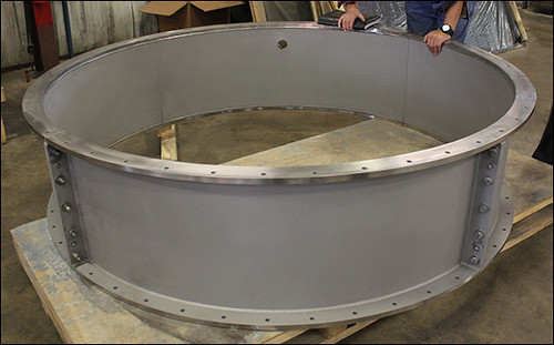 Custom Design Clamshell Pipe Spool for an Exhaust Duct Application in Texas