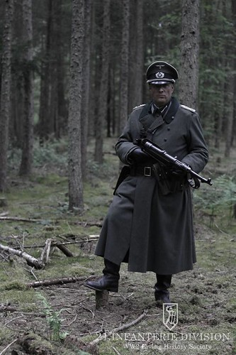 German Officer with MP40