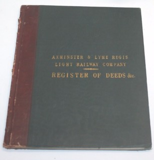 Axminster and Lyme Regis Light Railway Book of Deeds 1904 | by ian.dinmore
