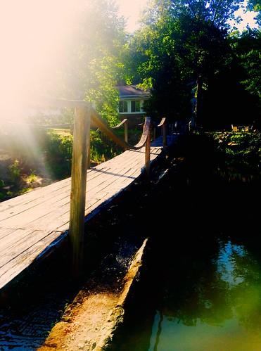 sunlight sun sunset sunshine landscape historic creek whitewatercreek lake lakebennett wood woodbridge bridge footbridge south georgia fayettevillega fayetteville mill oldmill franksatoldmill