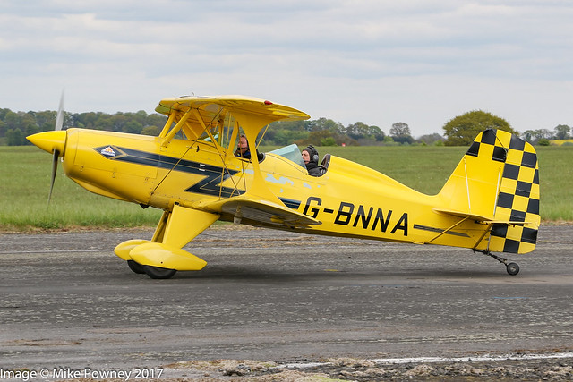 G-BNNA - 1973 build Stolp SA300 Starduster Too, taxiing for departure at Halfpenny Green during Radials, Trainers & Transports 2017