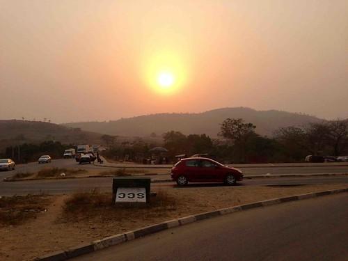 sunsetoverushafabridge ushafa abuja nigeria jujufilms