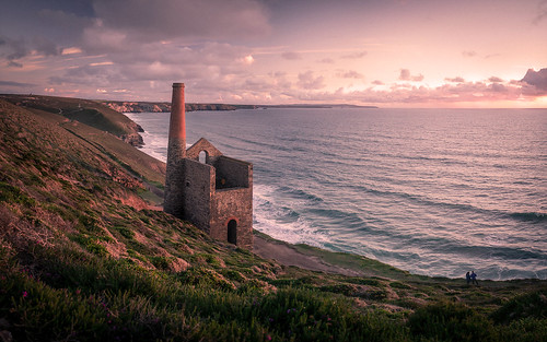 towanroath enginehouse whealcoates cornish cornwall tin tinmine sunset sea ocean may 2017