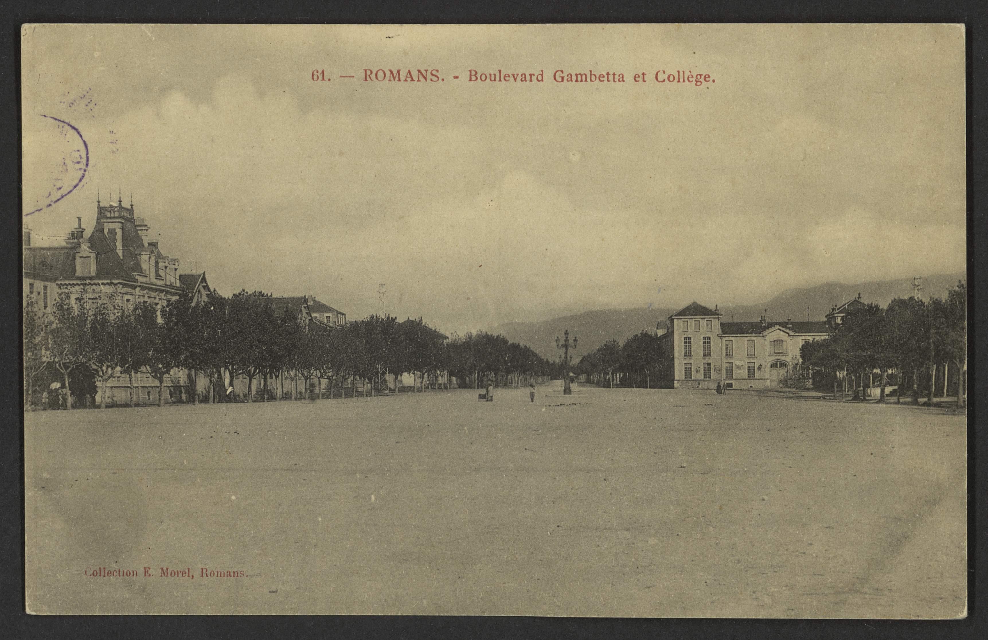 Romans - Boulevard Gambetta et Collège