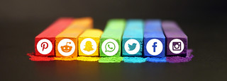 Social Media Icons on Chalk Sticks | by makeawebsitehub