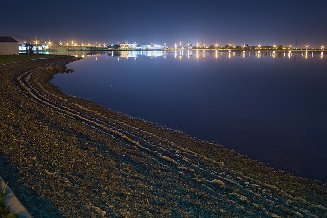 The estuary by night