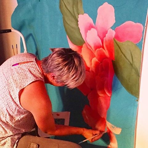 Before I become a spine in a wheelchair I wanna do A LOT more of this!  In my previous work life I was an illustrator and painter - Man did it feel great to burn the midnight oil and churn out multiple copies of our very sought after Pink Peony backdrop!