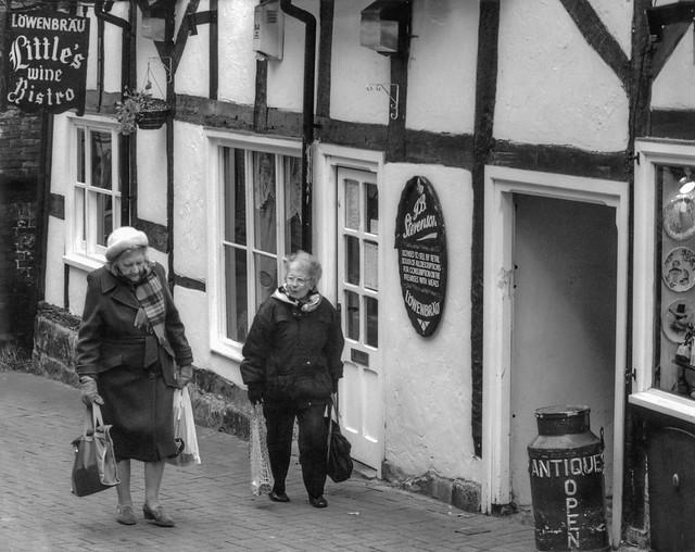 Senior Citizens. Congleton, Cheshire, early 1990s