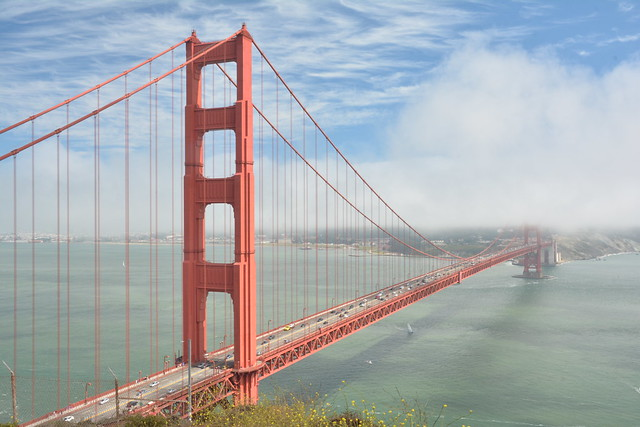 Karl and the Golden gate Bridge.