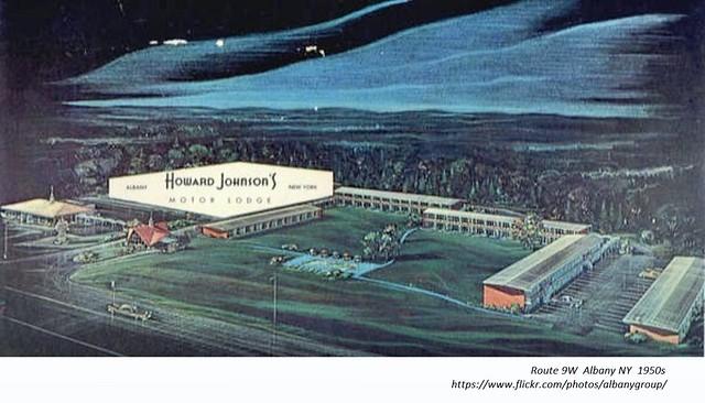 Howard Johnson's  Motel and Restaurant  Route 9W  albany ny  circa 1960
