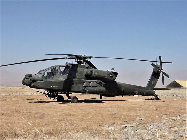 AH-64D Apache 00-05197 C/1-101Avn U.S.Army. Tarin Kowt, Uruzgan, Afghanistan. February 2008.