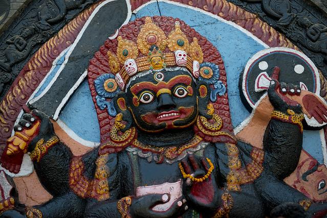 NPL - Kala Bhairava Statue - Kathmandu