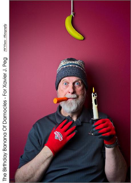 The Birthday Banana Of Damocles – For Xavier J. Peg