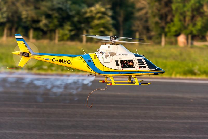 John flying his scale Agusta based on Raptor mechanics.