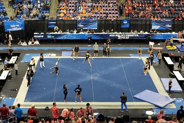 2017 Gymnastics Championship - UCLA floor warm-up