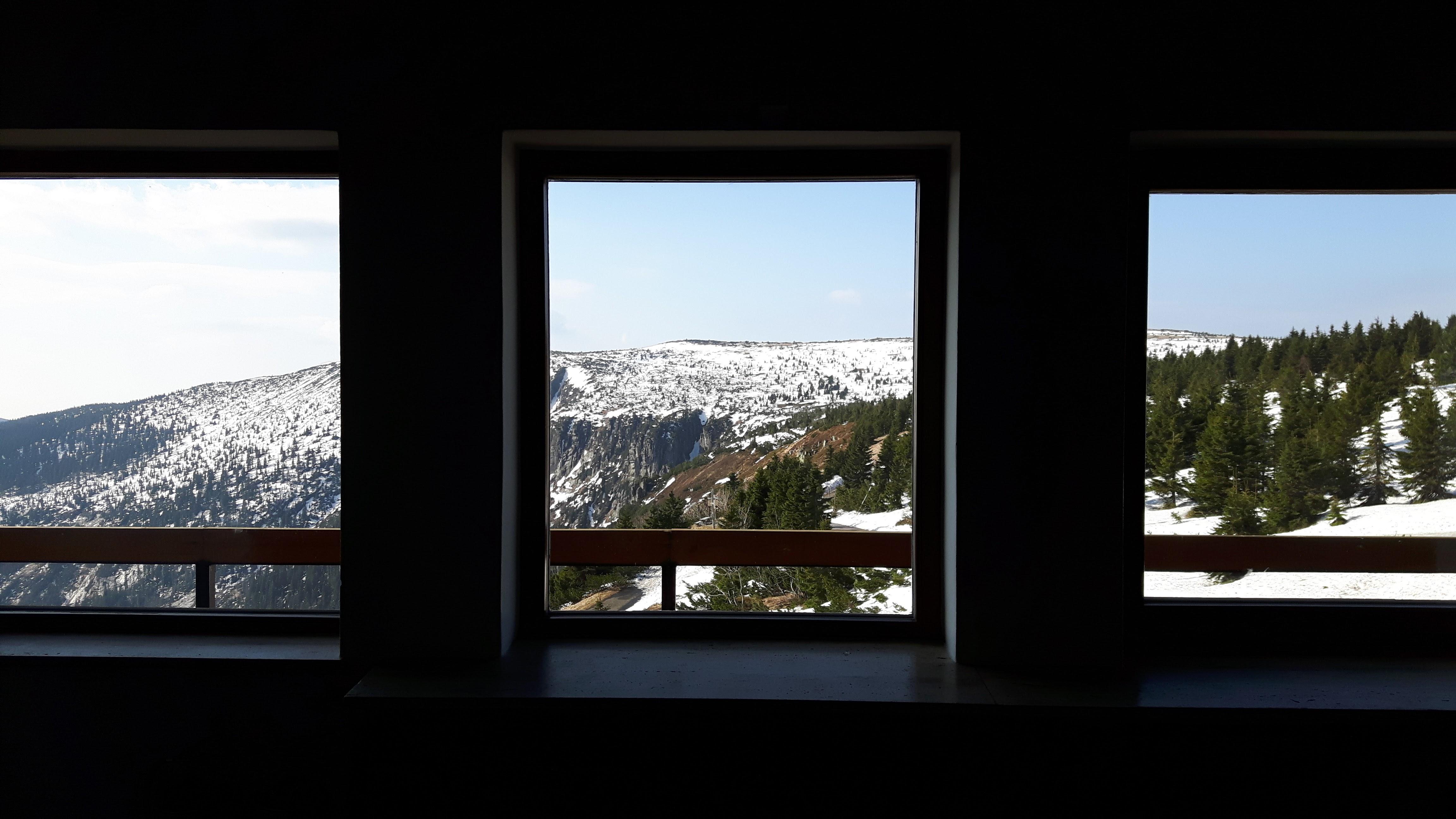 Výhled z Labské boudy