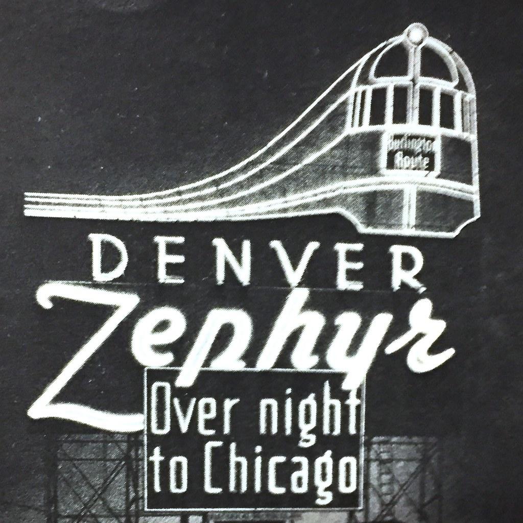 Denver Zephyrs: Neon Sign That Advertising The Denver Zephyr Once Displaye