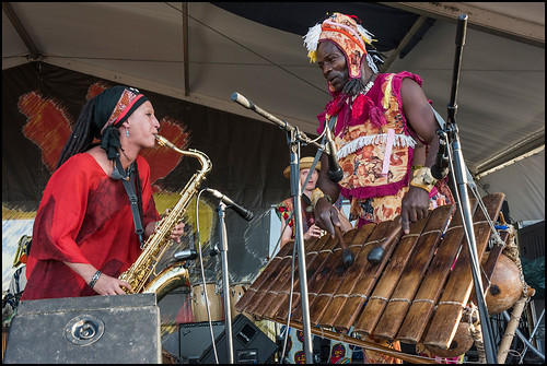 Ivoire Spectacle featuring Seguenon Kone during Jazz Fest Day 5 on May 5, 2017. Photo by Ryan Hodgson-Rigsbee www.rhrphoto.com