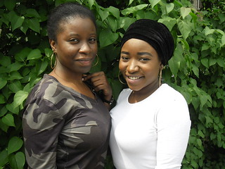 Fabulous Temi and Jenny from Nigeria, with national flag colour