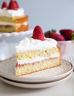 French Lemon Strawberry Jam Yogurt Cake | by Smells Like Home