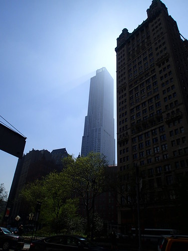 Rays of Light and Shadow from Gehry Building in NYC   by DTolman