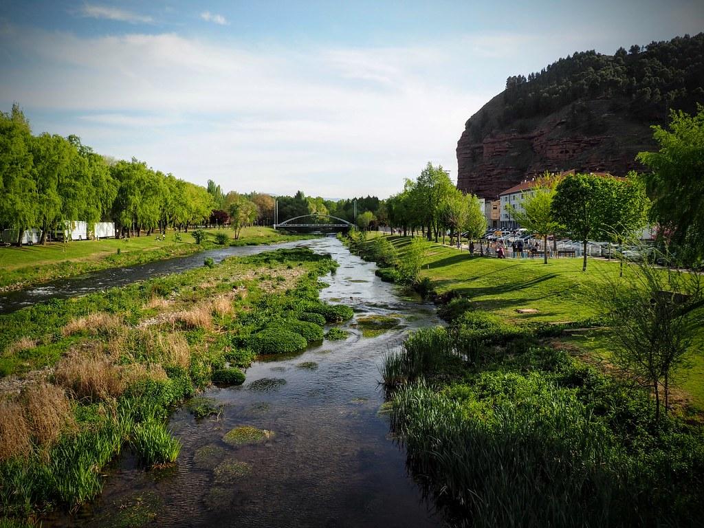 Najera y el rio Najerilla (La Rioja-Spain)