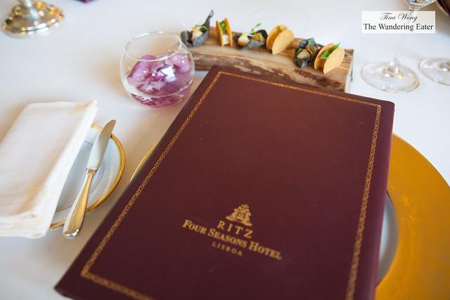 Varanda menu and amuse bouches