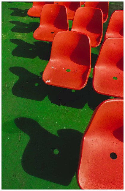 Red, Green & Shadows, Eigg Ferry