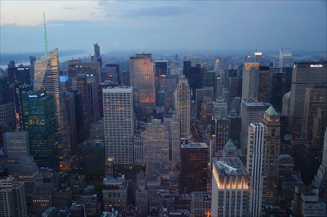 Stormy clouds over Manhattan