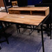 Metal and solid oak desk E100