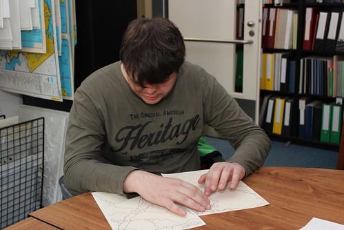 Pavel na workshopu Haptické mapy.cz