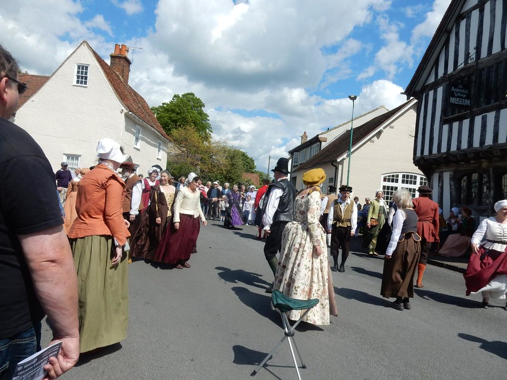 Many locals still wear medieval dress. Ashwell at Home Day, Baldock Circular