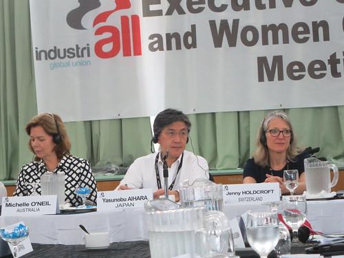 圖02大會主席Michele女士、相原先生以及總會助理秘書長暨亞太區負責人Jenny小姐