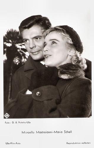 Marcello Mastroianni and Maria Schell in Le notti bianche (1957)