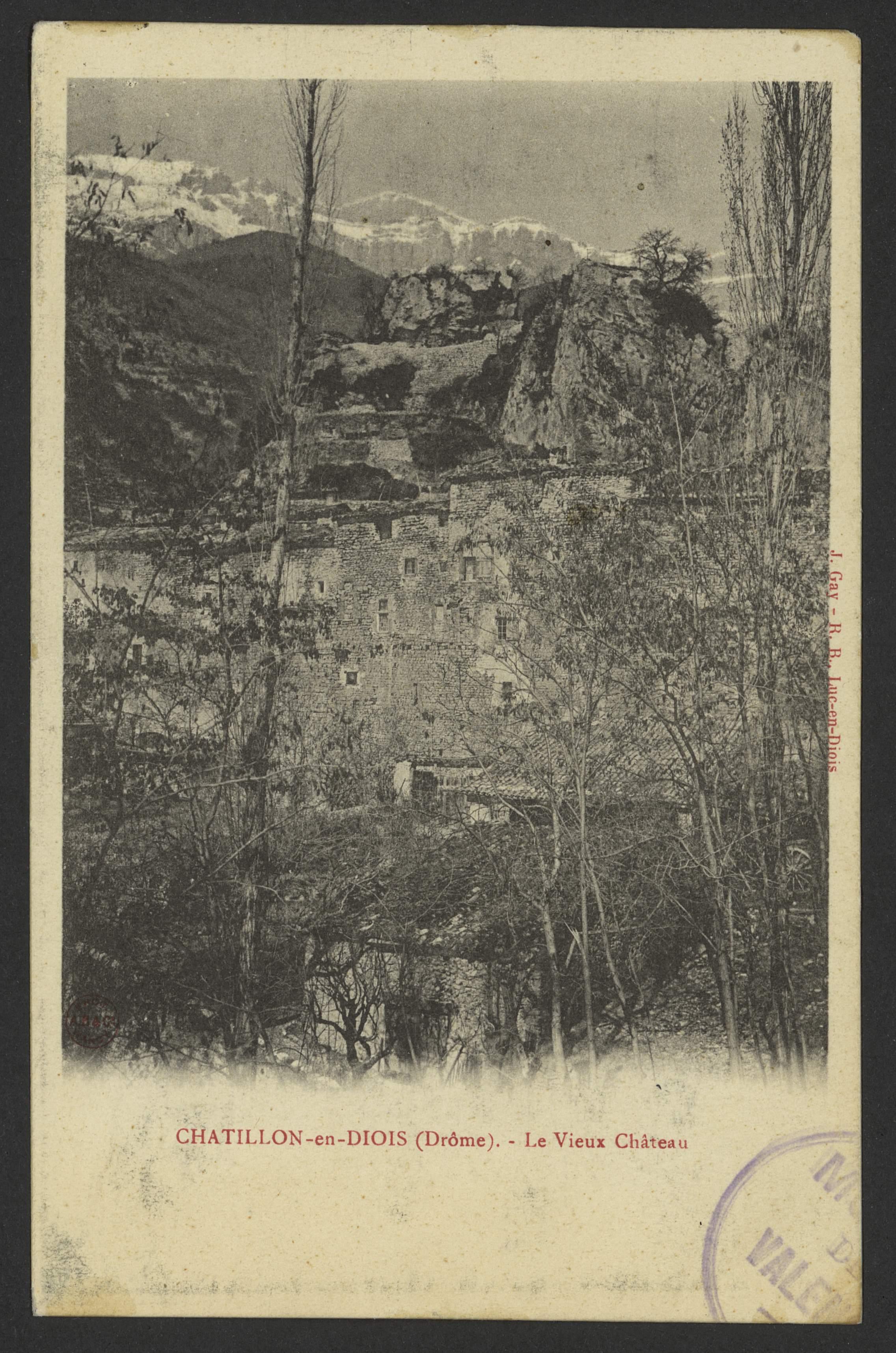 Chatillon-en-Diois (Drôme). - Le Vieux Château