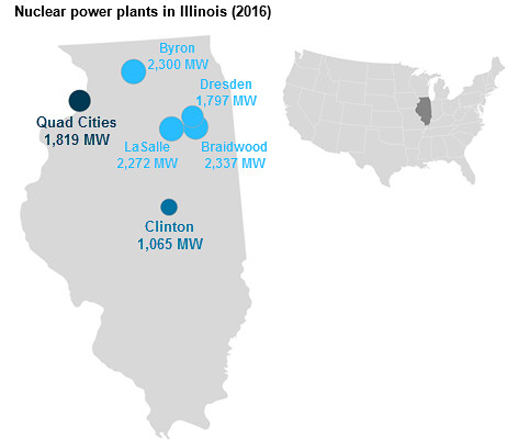 Nuclear Power Plants In Illinois 2016 Map Showing Locati Flickr - Map-of-nuclear-plants-in-us