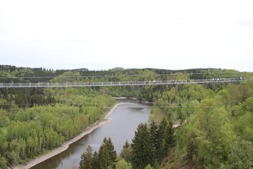 to span the valley