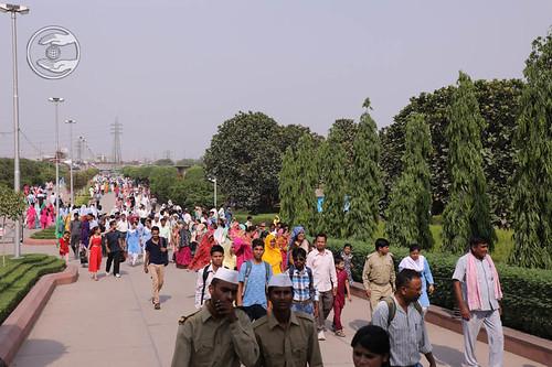 Devotees in the Nirankari Sarover Complex
