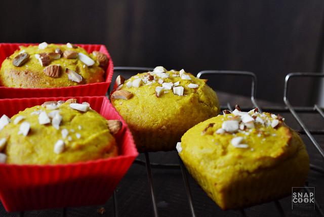 Mango Muffins Recipe - Eggless and whole wheat atta Muffins