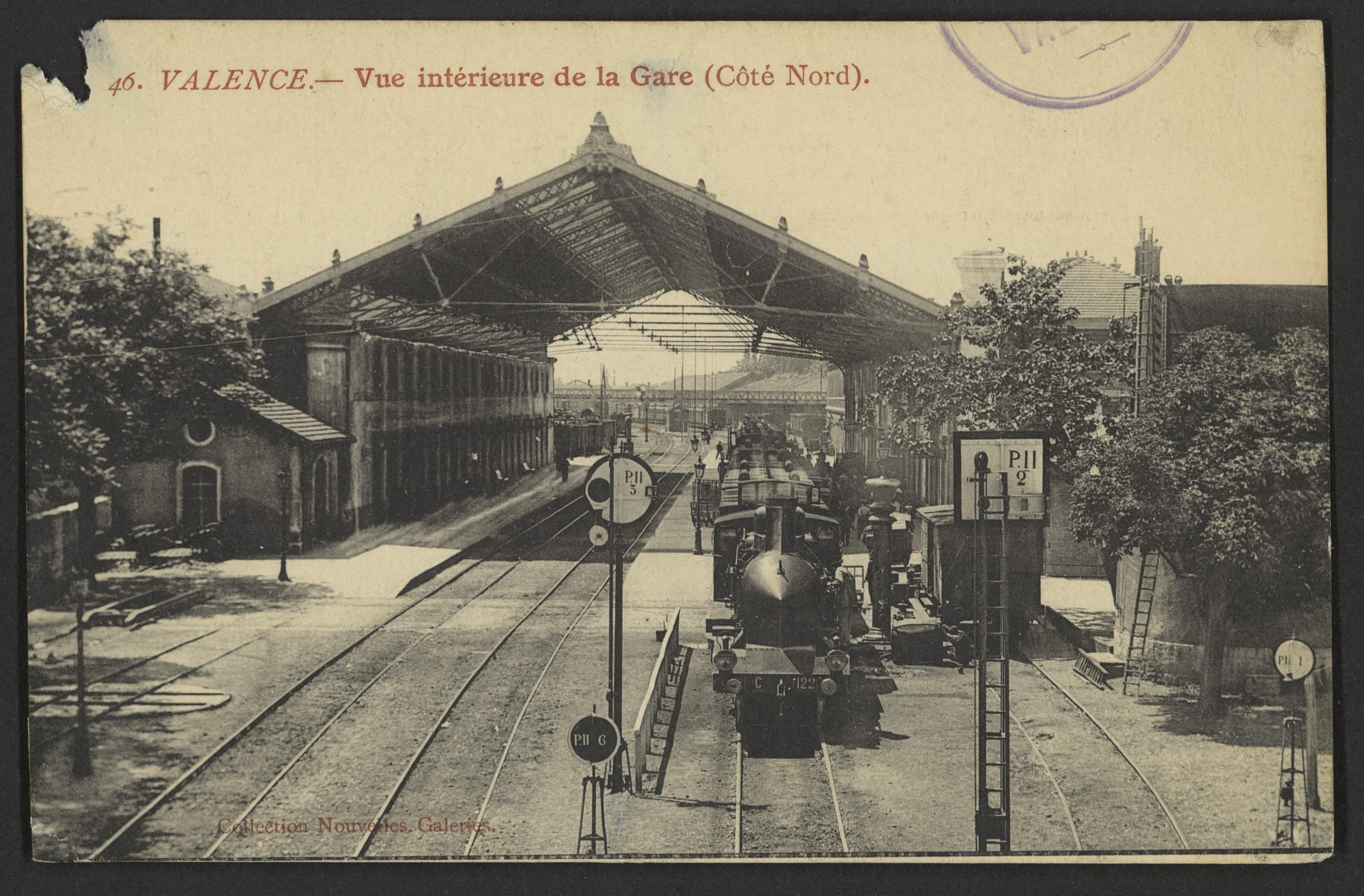 Valence - Vue Intérieure de la Gare (Côté Nord)