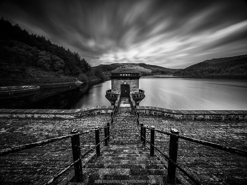 longexposure blackandwhite landscape water nature lake clouds blackwhite mountains peakdistrict