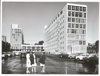 Auckland. Greenlane Nurses Home on right. National Womens Nurses Home on left