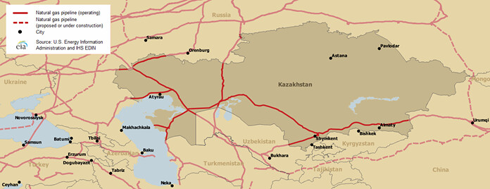 Kazakhstan Map Of Major Natural Gas Pipelines Map Of Major Flickr - Map-of-natural-gas-pipelines-in-us